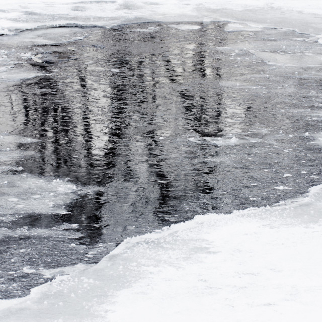"""""""Icy River"""" stock image"""