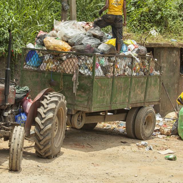 """Collecting waste in Sri Lanka"" stock image"