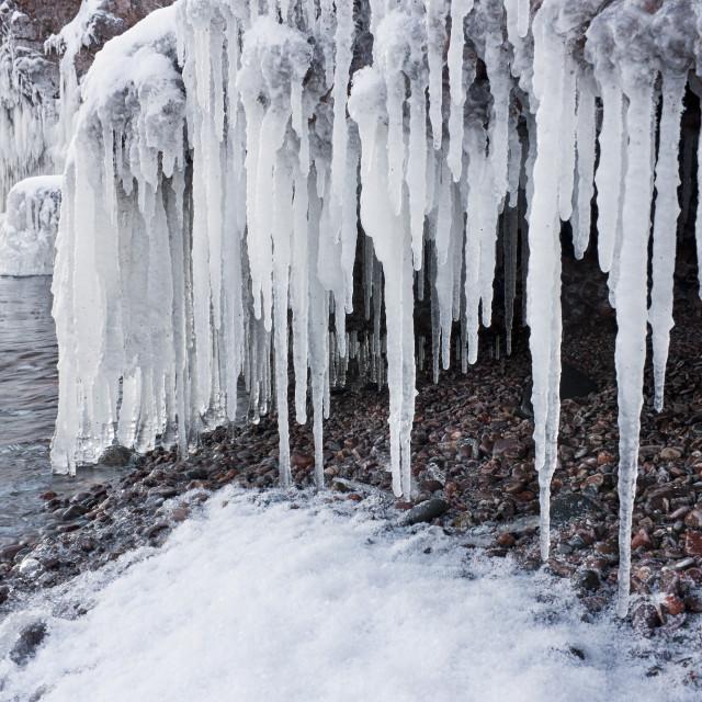 """Frozen Mid Drip"" stock image"