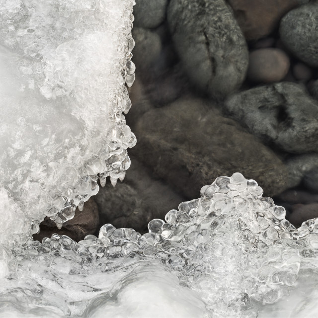 """Ice and Rocks"" stock image"