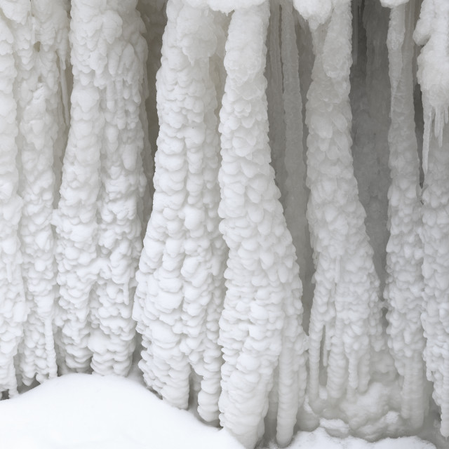 """Ice Formations"" stock image"