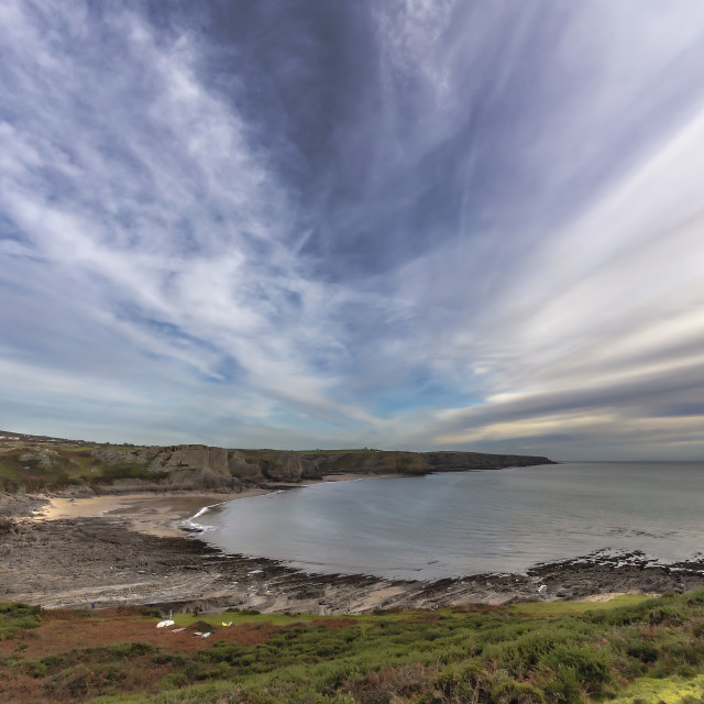 """""""Clouds over Fall Bay"""" stock image"""