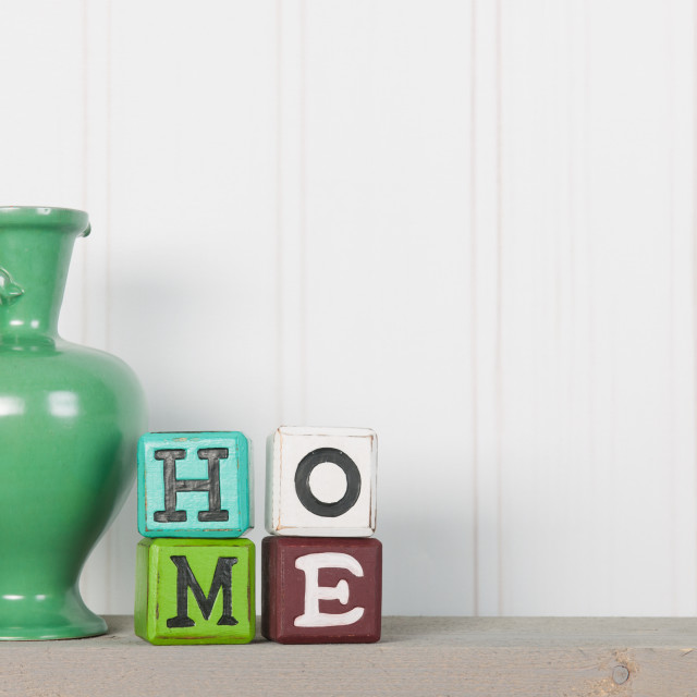 """Vase in interior at home"" stock image"