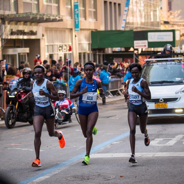 """NY Marathon Elite Women"" stock image"