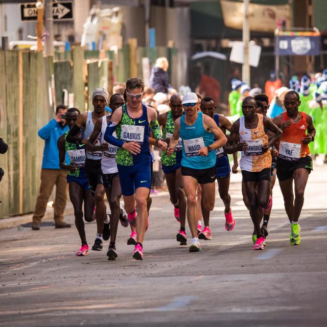 """NY Marathon Elite Runners 2019"" stock image"