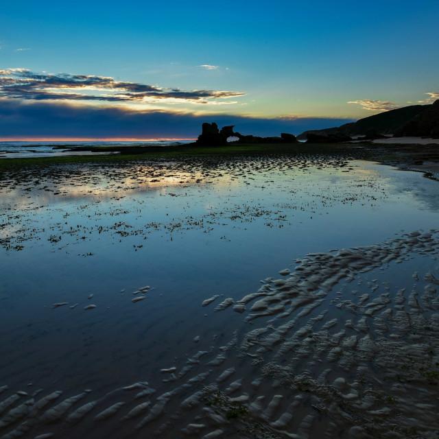 """Sunset over Portsea Beach"" stock image"
