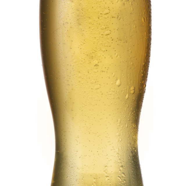 """A cold weiss beer poured into a glass"" stock image"