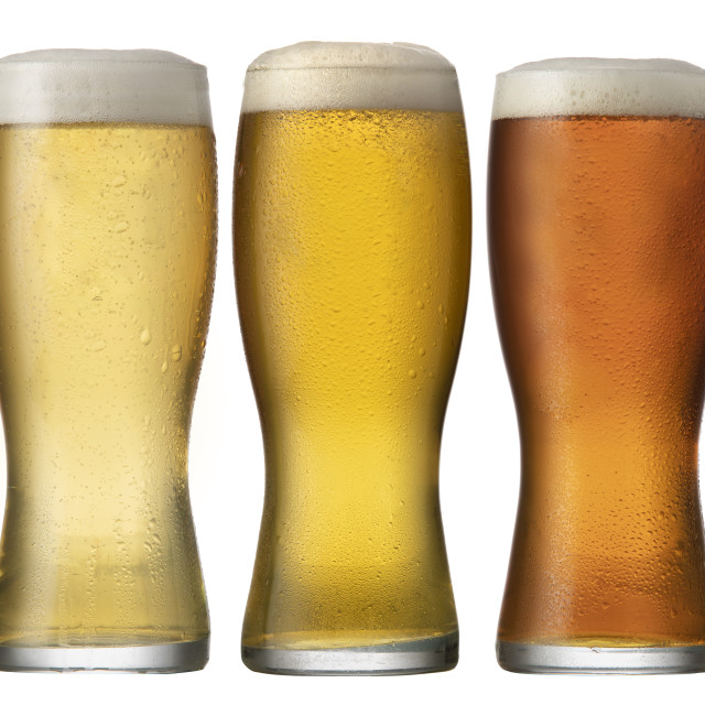 """""""A Cold Beer in Glass"""" stock image"""