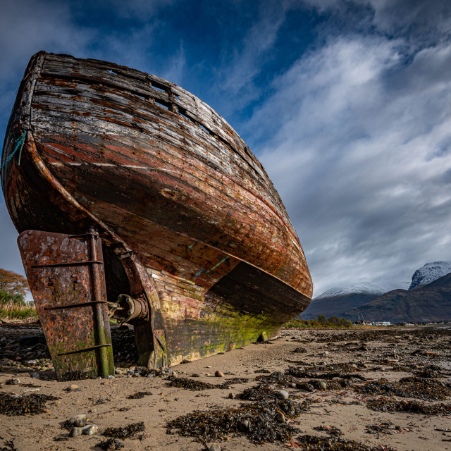 """""""Corpach Wreck"""" stock image"""