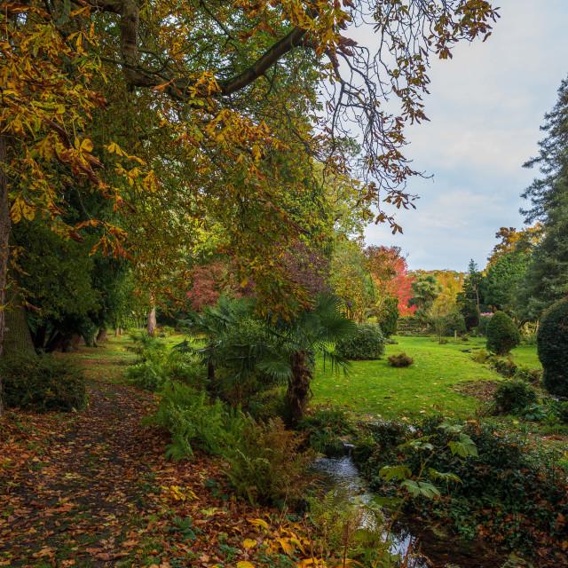 """""""Lifehouse Spa Essex Autumn Garden"""" stock image"""