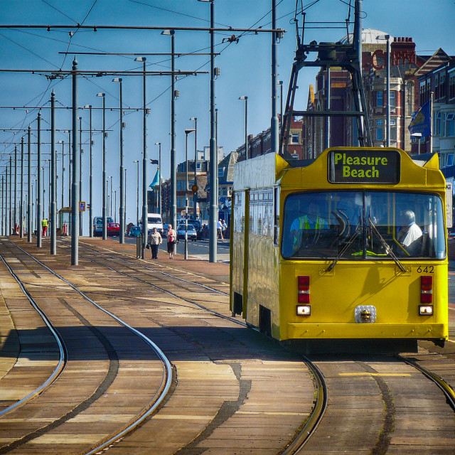 """Blackpool Tram"" stock image"
