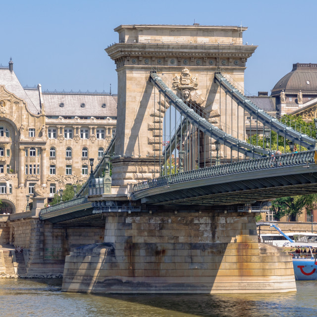 """Szechenyi Chain Bridge - Budapest"" stock image"