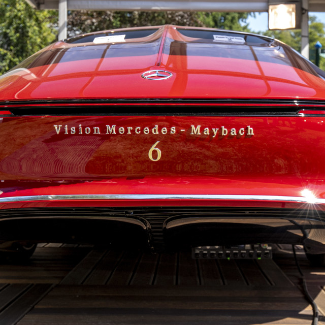 """Vision Mercedes-Maybach 6 Back"" stock image"