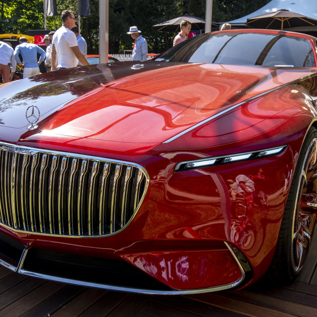 """""""Vision Mercedes-Maybach 6 Front and Side"""" stock image"""