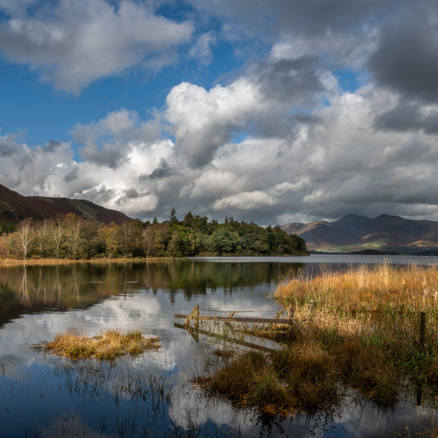 """Derwent water."" stock image"