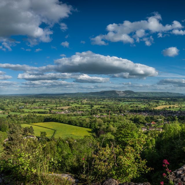 """View from Llanymynech rocks."" stock image"
