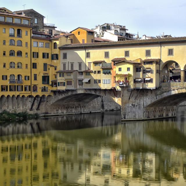 """""""Pont de Vecchio"""" stock image"""