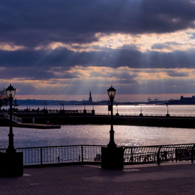 """""""North Cove Marina, New York"""" stock image"""
