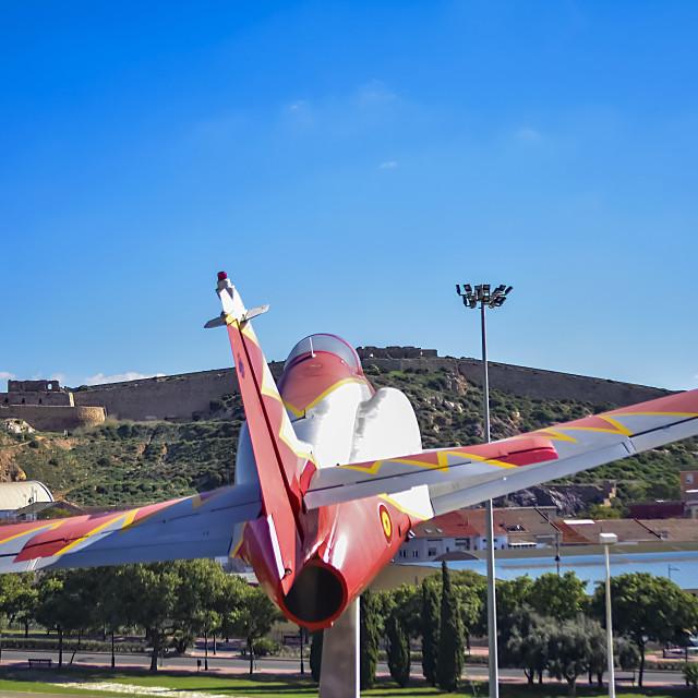 """Plane in Cartagena"" stock image"