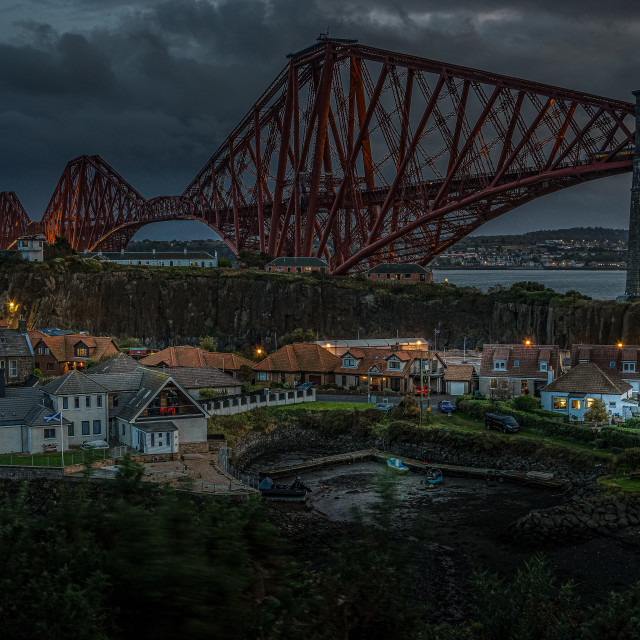 """""""Forth Rail Bridge from North Queensferry"""" stock image"""