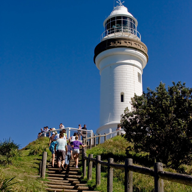 """""""Up we go to the lighthouse"""" stock image"""