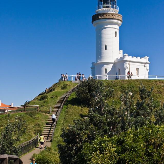 """Cape Byron Lighthouse awaits"" stock image"