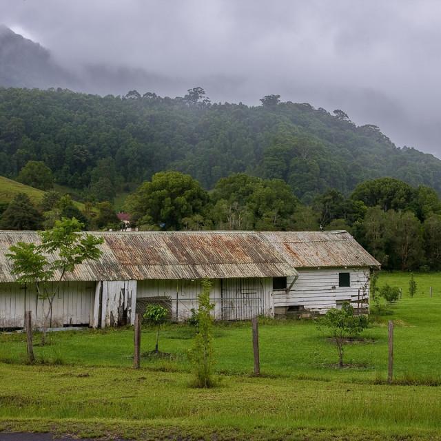 """Currumbin Valley farmland"" stock image"
