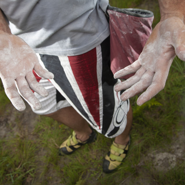"""Rock Climber Hand"" stock image"