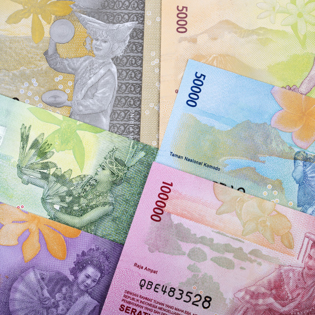 """Indonesian rupiah a background"" stock image"