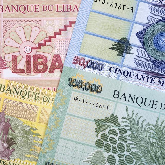 """""""Lebanese Pound a background"""" stock image"""