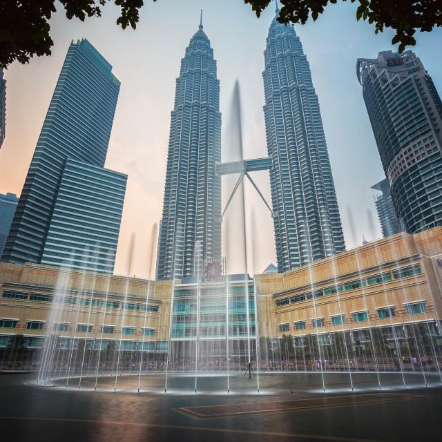 """Petronas Twin Towers, Malaysia"" stock image"