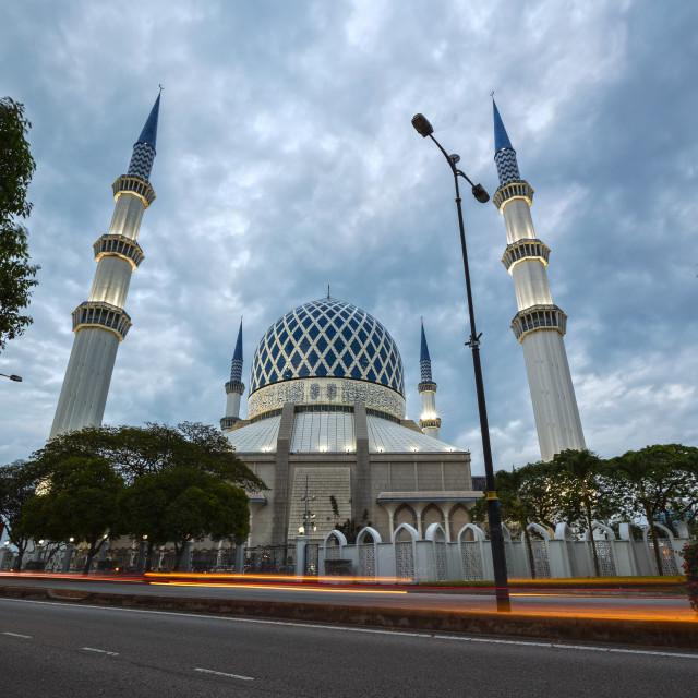"""Sultan Salahuddin Abdul Aziz Mosque"" stock image"