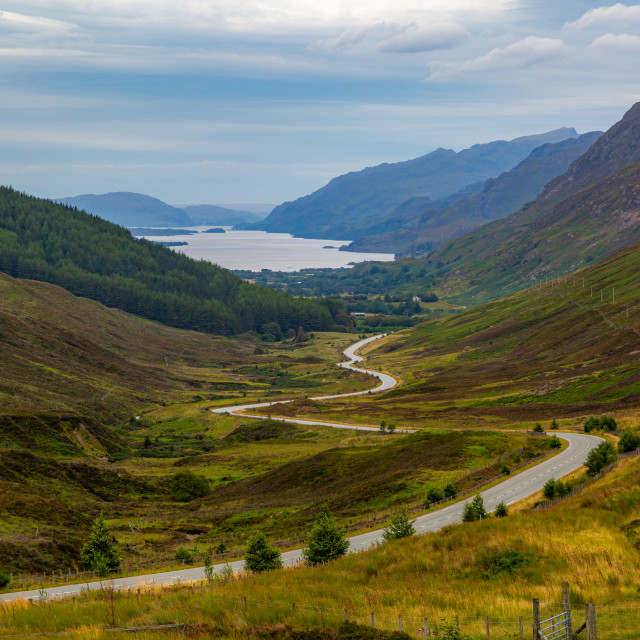 """""""The Highlands (Road to the Loch)"""" stock image"""