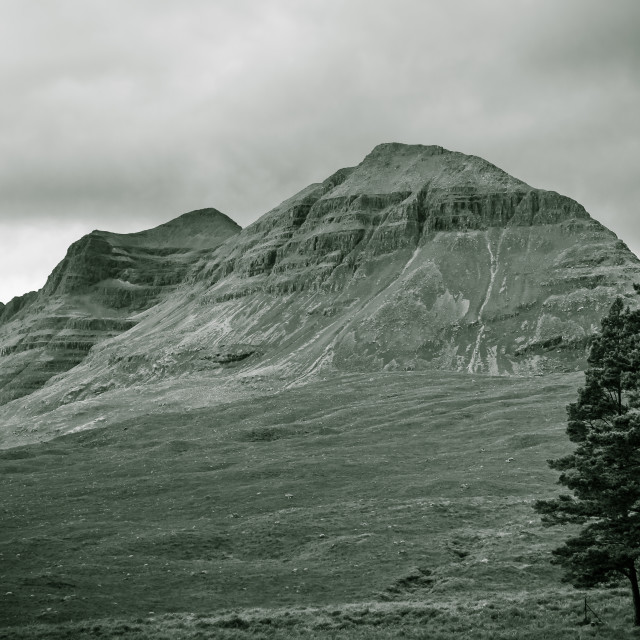 """Beinne Eighe in Mono"" stock image"