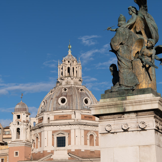 """""""The Church of the Most Holy Name of Mary at the Trajan Forum //"""" stock image"""