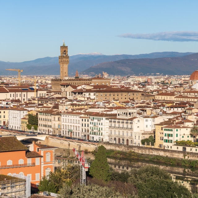 """Florence views from Piazzale Michelangelo // Florence, Italy"" stock image"