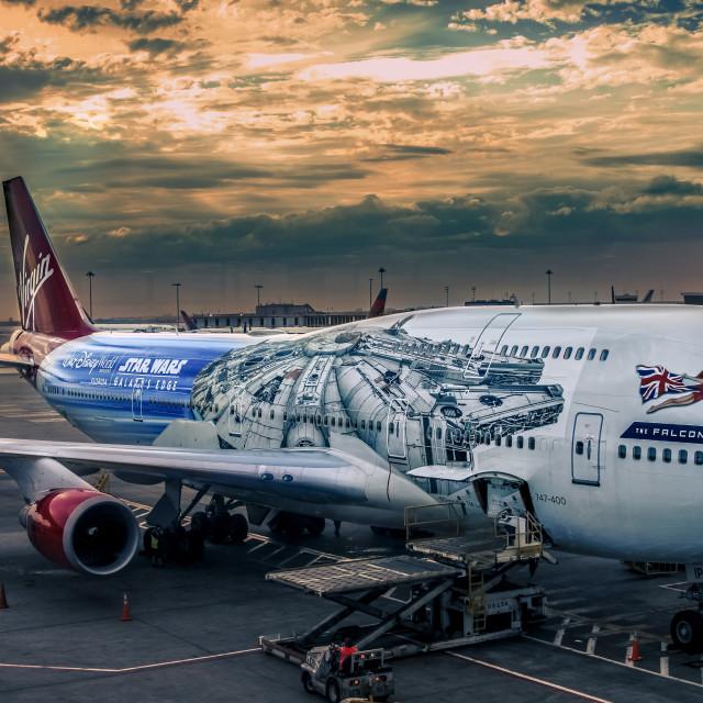 """Star Wars / Boeing 747"" stock image"