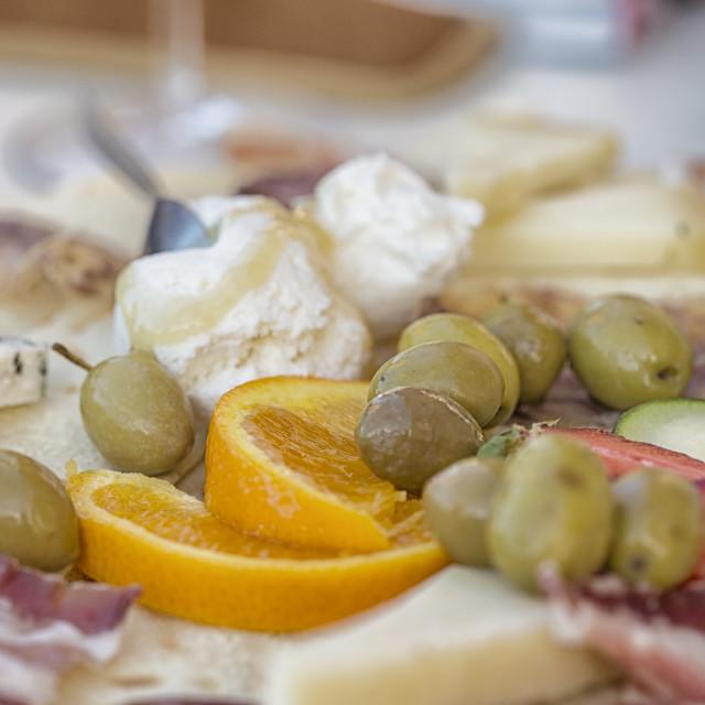 """Italian snacks"" stock image"