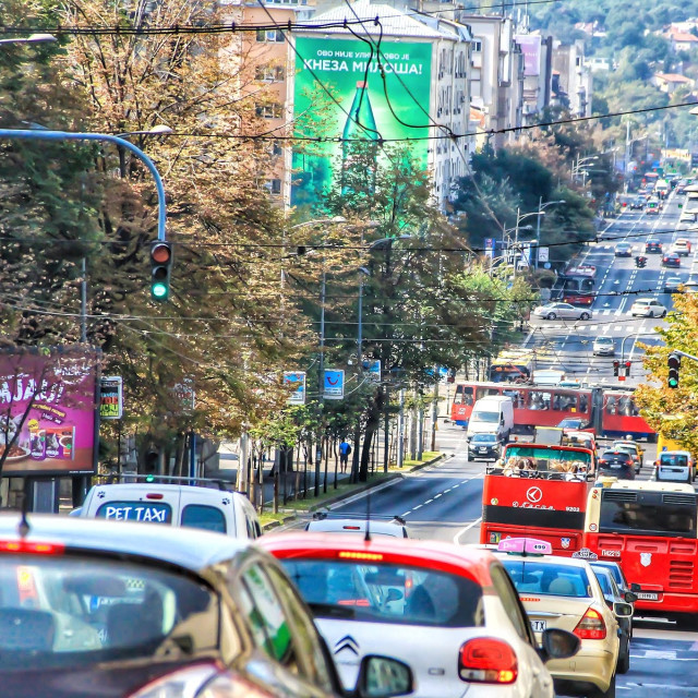 """Traffic Jam in Belgrade"" stock image"