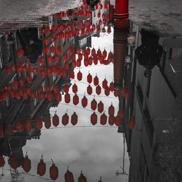 """Chinatown Reflections"" stock image"