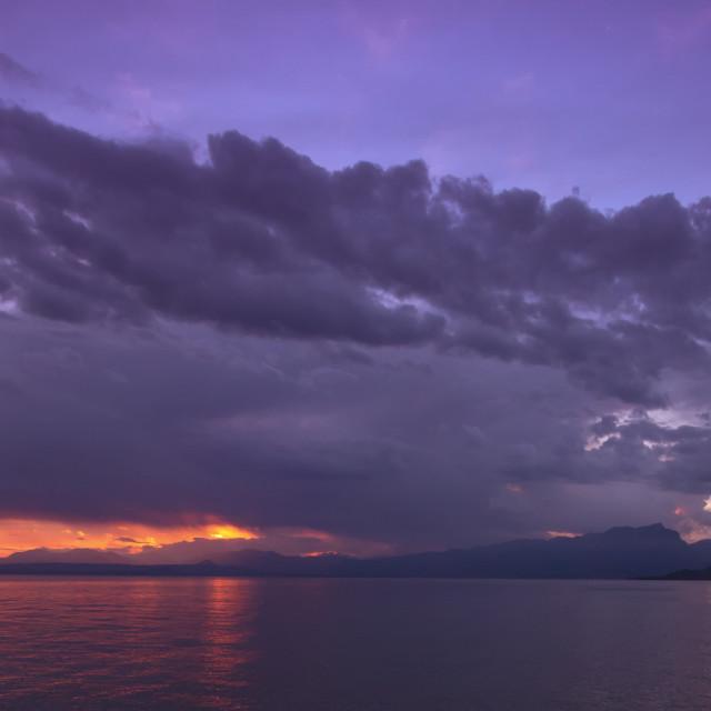 """""""Lake Garda Italy"""" stock image"""
