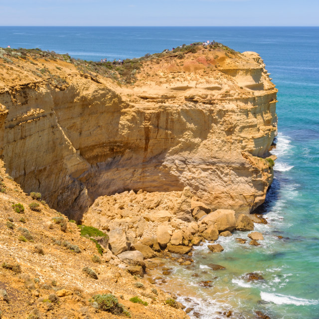 """Castle Rock - Port Campbell"" stock image"