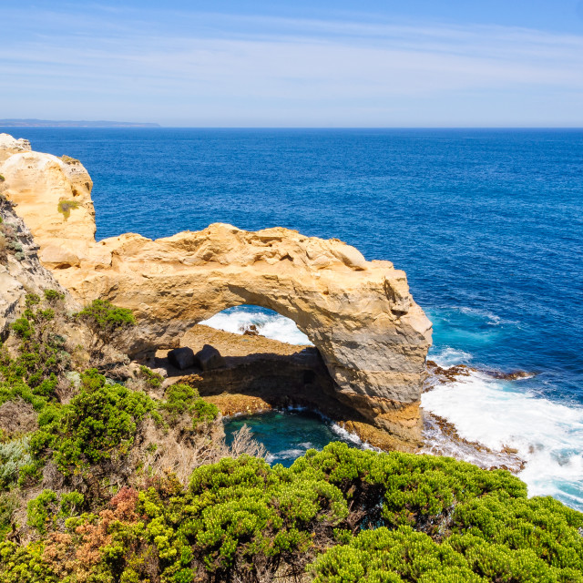 """The Arch - Port Campbell"" stock image"