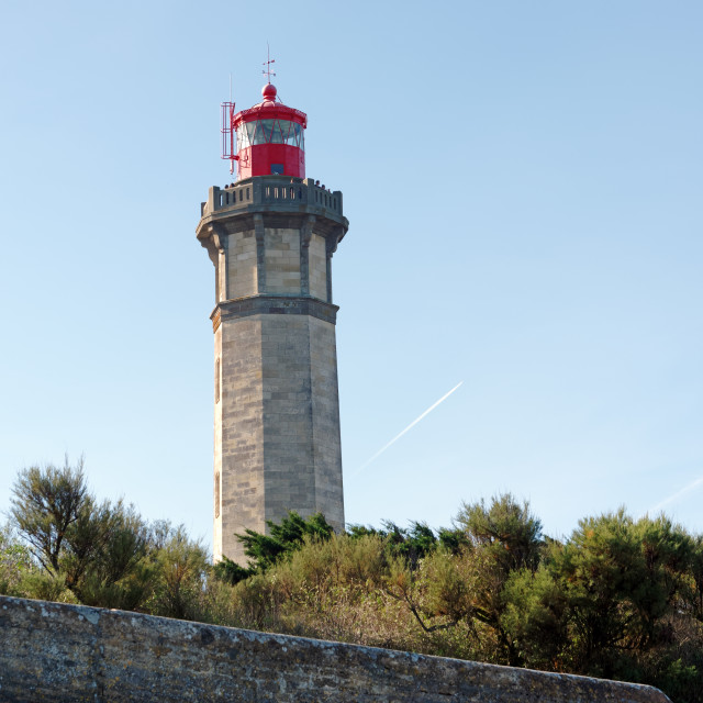 """Phare des baleines lighthouse"" stock image"