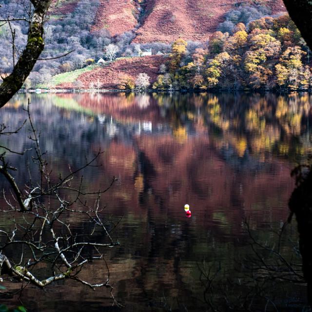 """Loch Lomond reflections"" stock image"
