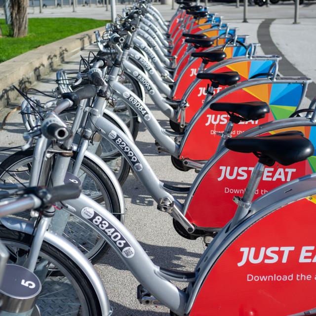 """Belfast Bikes"" stock image"