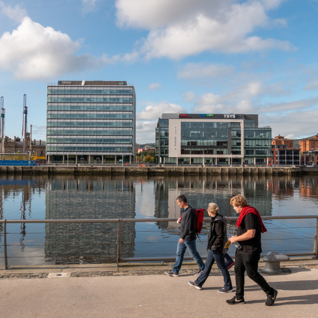 """City Quays, Belfast"" stock image"