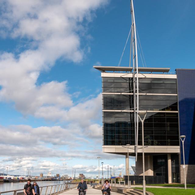 """""""Queens Quay, Belfast"""" stock image"""