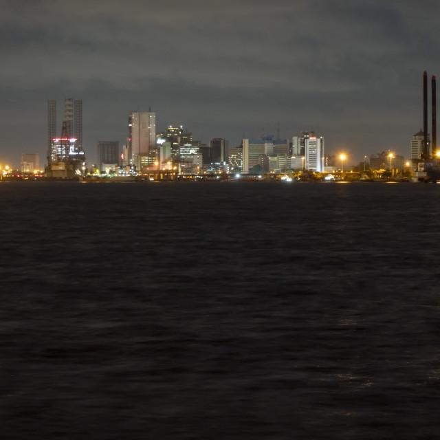 """Lagos by night"" stock image"