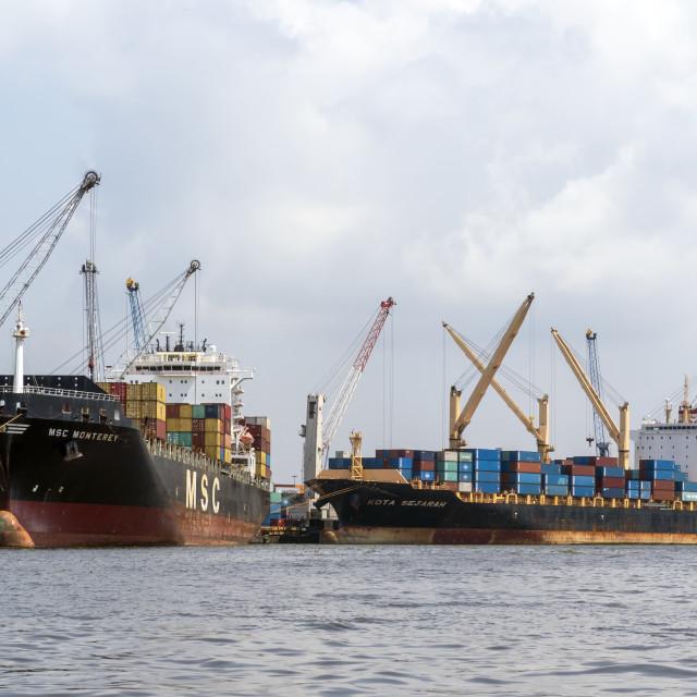 """Port terminal"" stock image"